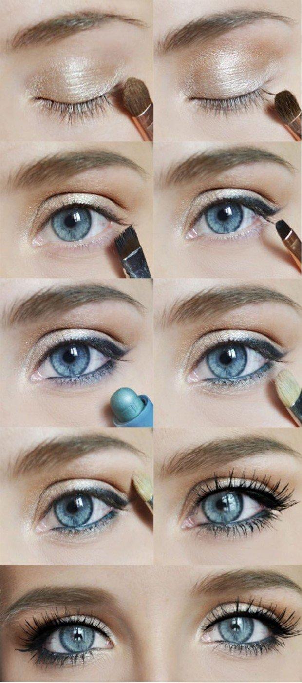 Cum sa-ti scoti in evidenta ochii albastri cu ajutorul machiajului