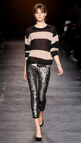 style-dot-com-isabel-marant-fall-2010-ready-to-wear-sequin-cropped-leggings-pants-stripe-horizontal-sweater-knit-grey-black