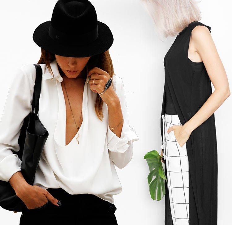 moduri de a purta alb-negru vara_