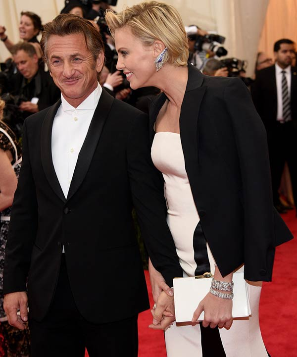 8. Charlize Theron and Sean Penn