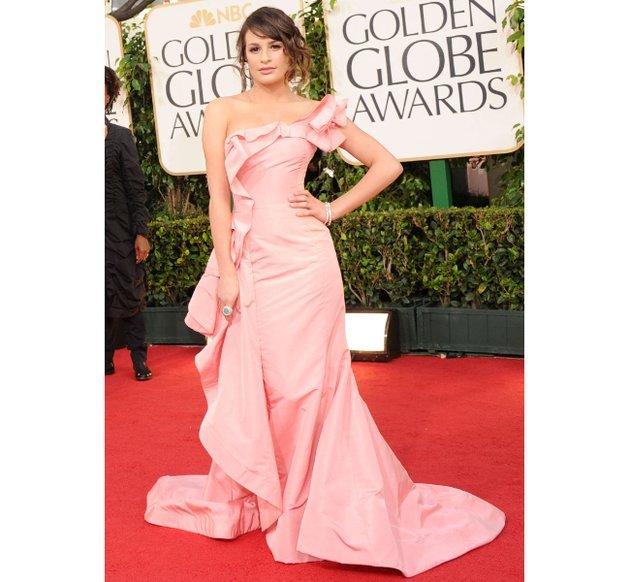 Lea Michele, 2011 Golden Globes