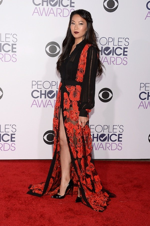 LOS ANGELES, CA - JANUARY 06:  Actress Arden Cho attends the People's Choice Awards 2016 at Microsoft Theater on January 6, 2016 in Los Angeles, California.  (Photo by Kevork Djansezian/Getty Images)