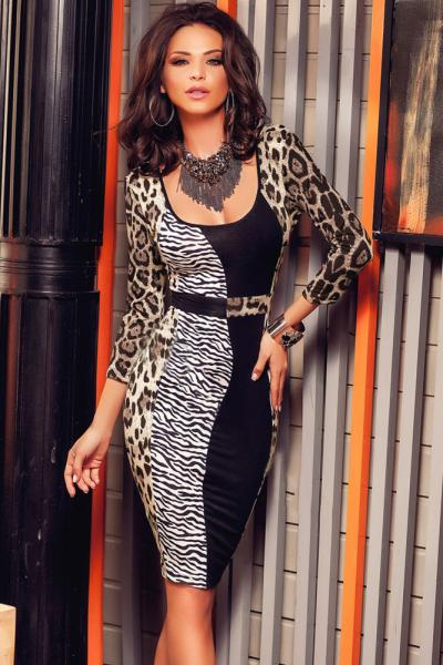 Modele de rochii cu animal print online