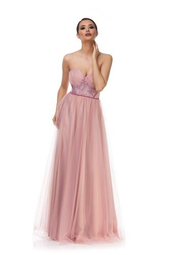 Modele de rochii lungi roz