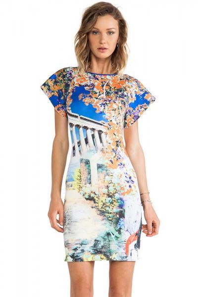 Modele de rochii cu imprimeu colorat de vara